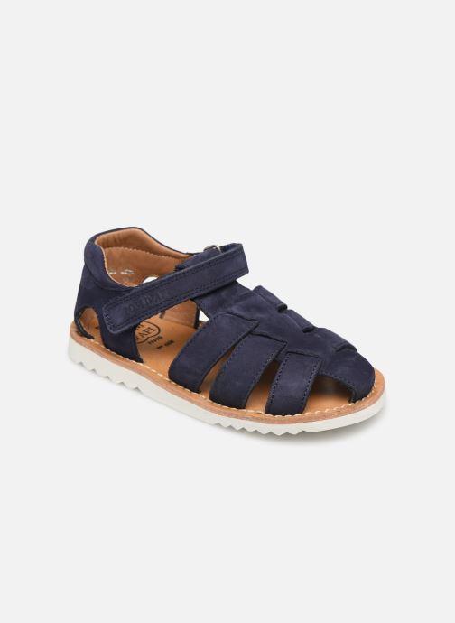 Sandales et nu-pieds Pom d Api Waff Papy Bleu vue détail/paire