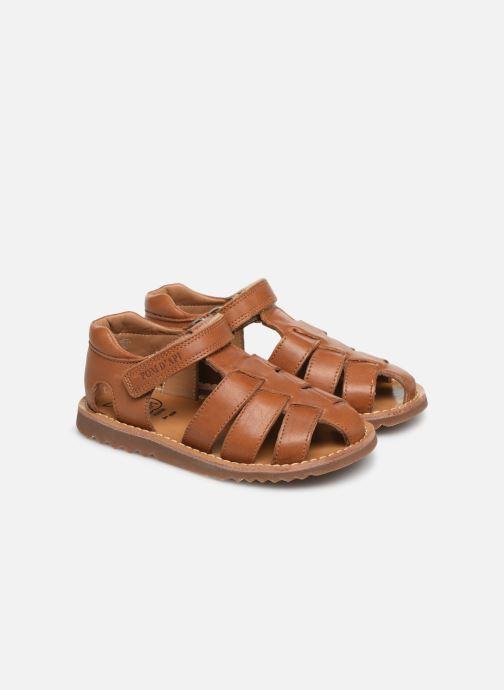 Sandales et nu-pieds Pom d Api Waff Papy Marron vue 3/4