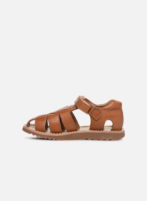 Sandales et nu-pieds Pom d Api Waff Papy Marron vue face