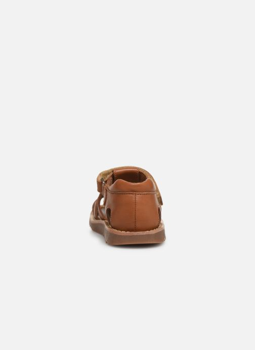 Sandales et nu-pieds Pom d Api Waff Papy Marron vue droite