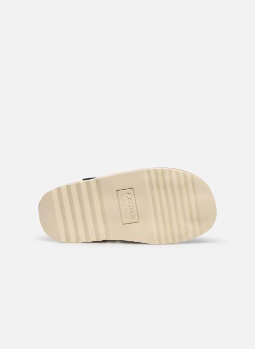 Sandales et nu-pieds Pom d Api Waff Papy Bleu vue haut