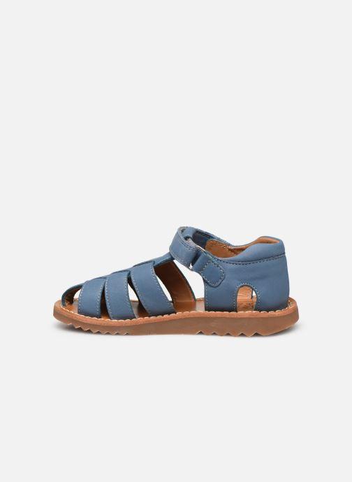 Sandalias Pom d Api Waff Papy Azul vista de frente