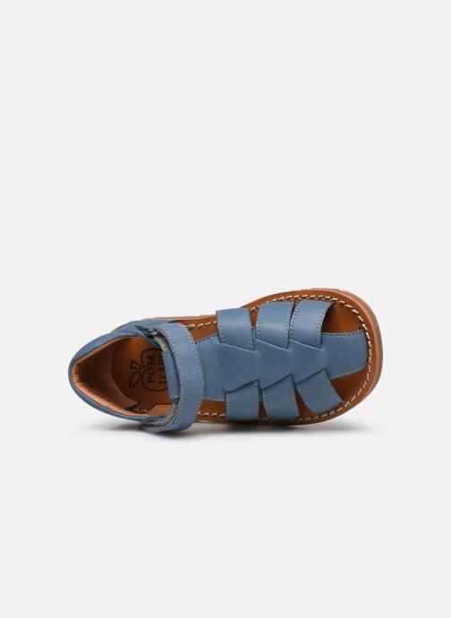 Sandalen Pom d Api Waff Papy blau ansicht von links