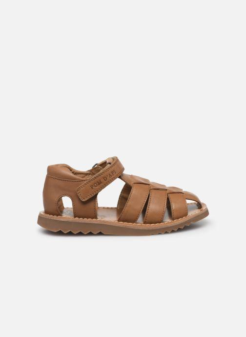 Sandales et nu-pieds Pom d Api Waff Papy Marron vue derrière