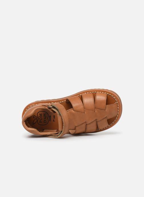 Sandales et nu-pieds Pom d Api Waff Papy Marron vue gauche