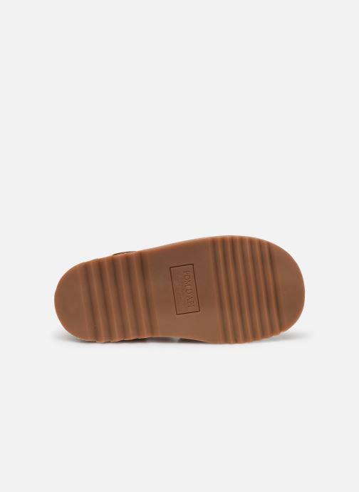 Sandales et nu-pieds Pom d Api Waff Papy Marron vue haut