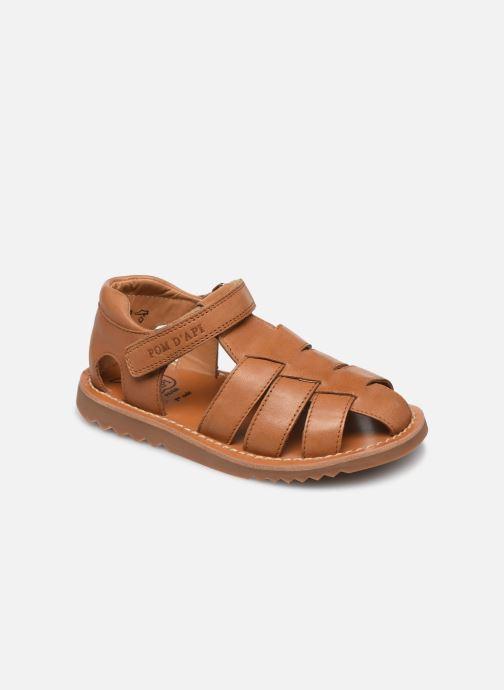 Sandales et nu-pieds Pom d Api Waff Papy Marron vue détail/paire