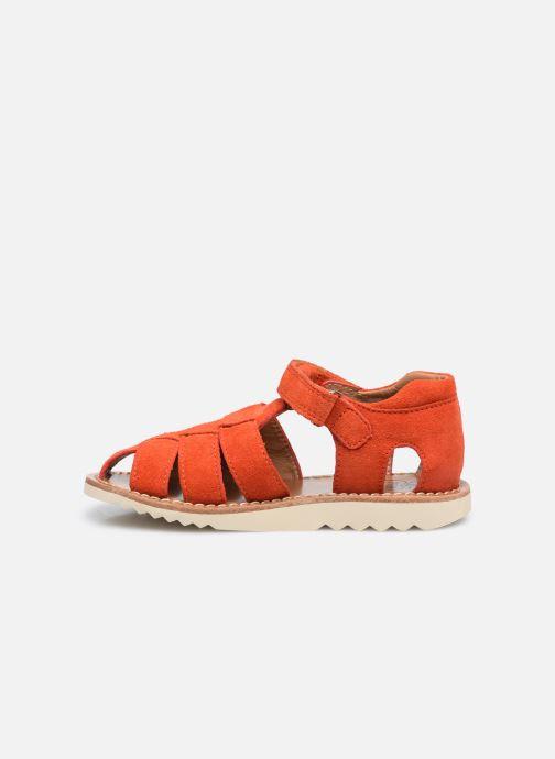 Sandali e scarpe aperte Pom d Api Waff Papy Rosso immagine frontale