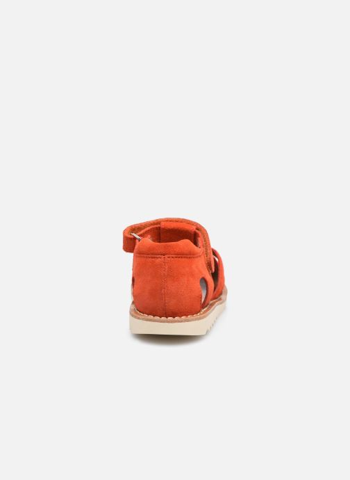 Sandali e scarpe aperte Pom d Api Waff Papy Rosso immagine destra