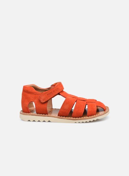 Sandali e scarpe aperte Pom d Api Waff Papy Rosso immagine posteriore