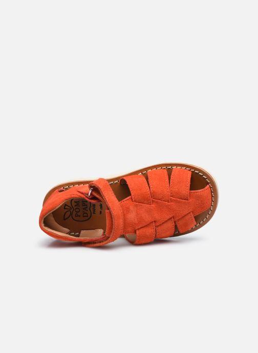 Sandali e scarpe aperte Pom d Api Waff Papy Rosso immagine sinistra