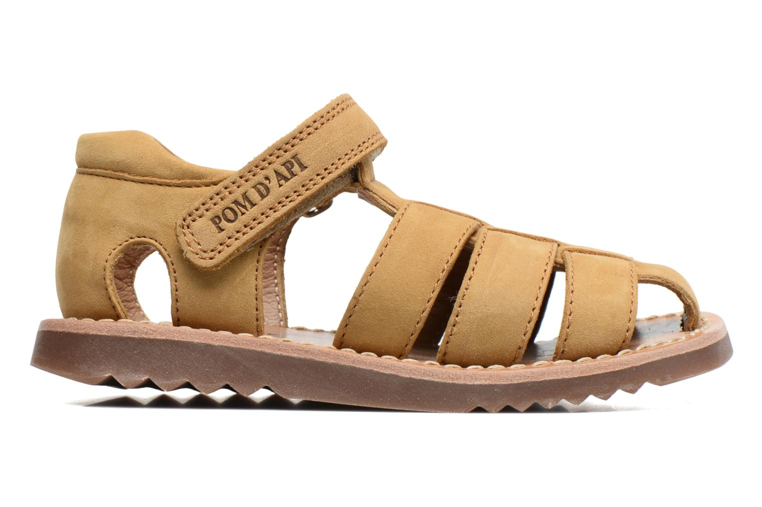 Sandals Pom d Api Waff Papy Yellow back view