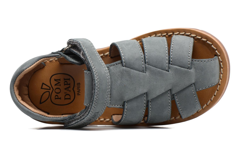 Sandales et nu-pieds Pom d Api Waff Papy Gris vue gauche