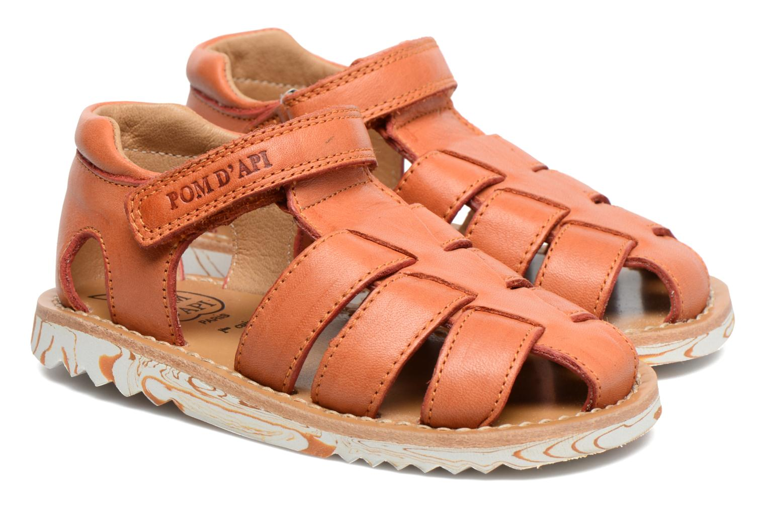 Sandals Pom d Api Waff Papy Orange 3/4 view