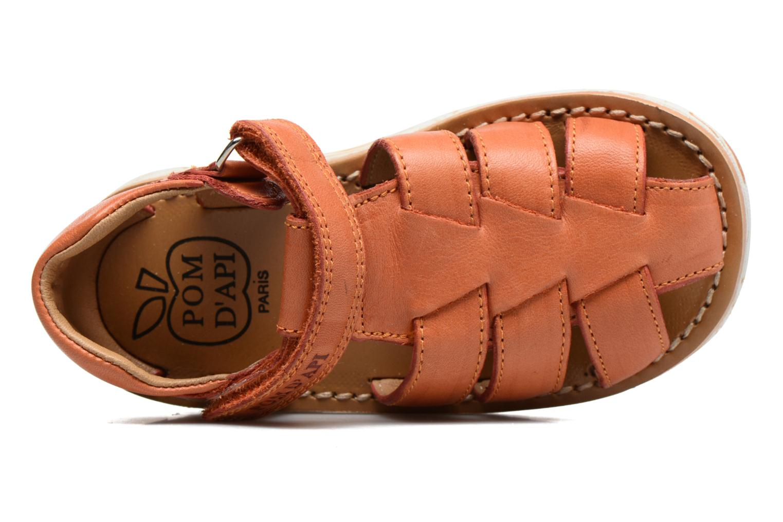 Sandals Pom d Api Waff Papy Orange view from the left