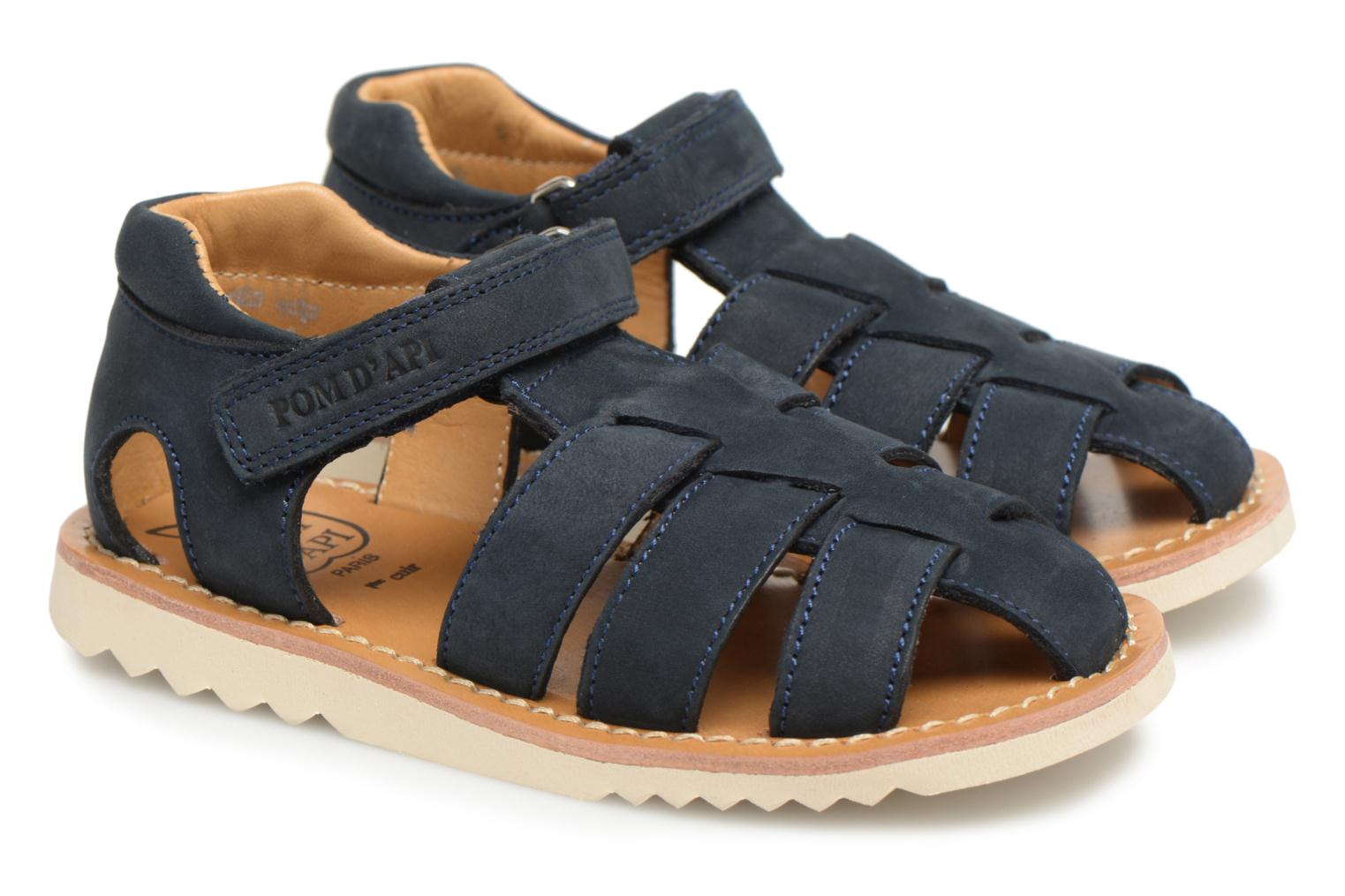 Sandals Pom d Api Waff Papy Blue 3/4 view