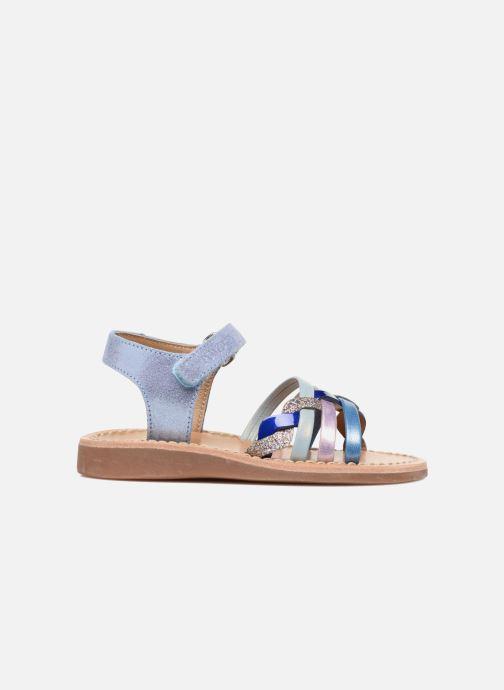Sandales et nu-pieds Pom d Api YAPO TRESSE Multicolore vue derrière