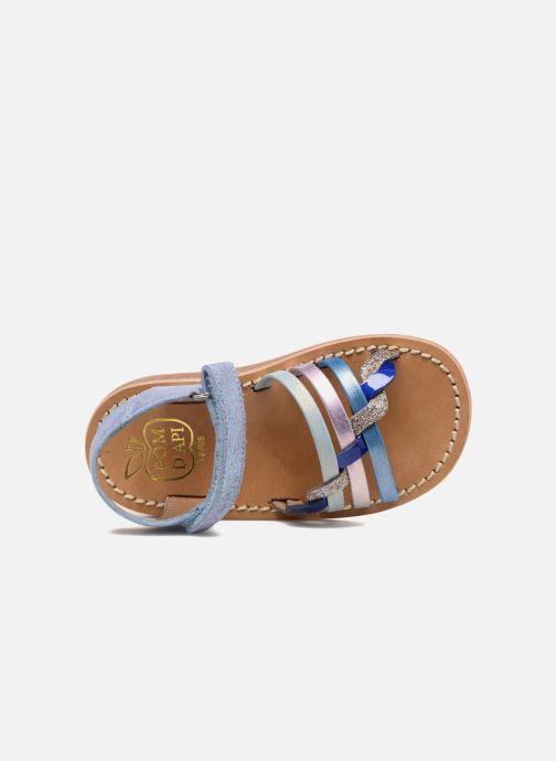 Sandales et nu-pieds Pom d Api YAPO TRESSE Multicolore vue gauche