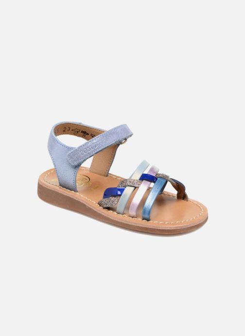 Sandales et nu-pieds Pom d Api YAPO TRESSE Multicolore vue détail/paire