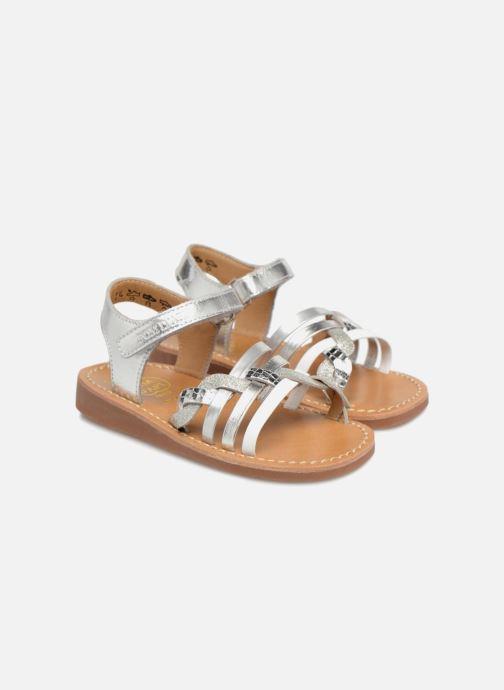 Sandaler Pom d Api YAPO TRESSE Sølv 3/4 billede
