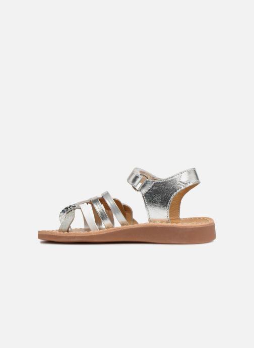 Sandalen Pom d Api YAPO TRESSE Zilver voorkant