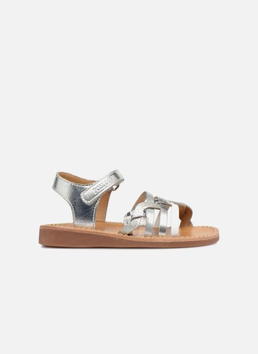 Sandaler Pom d Api YAPO TRESSE Sølv se bagfra