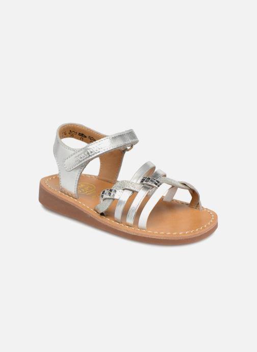 Sandaler Pom d Api YAPO TRESSE Sølv detaljeret billede af skoene