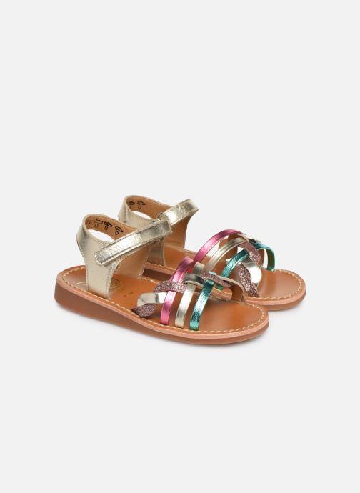 Sandales et nu-pieds Pom d Api YAPO TRESSE Multicolore vue 3/4