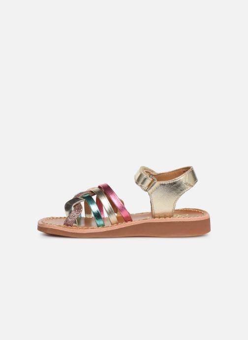 Sandales et nu-pieds Pom d Api YAPO TRESSE Multicolore vue face