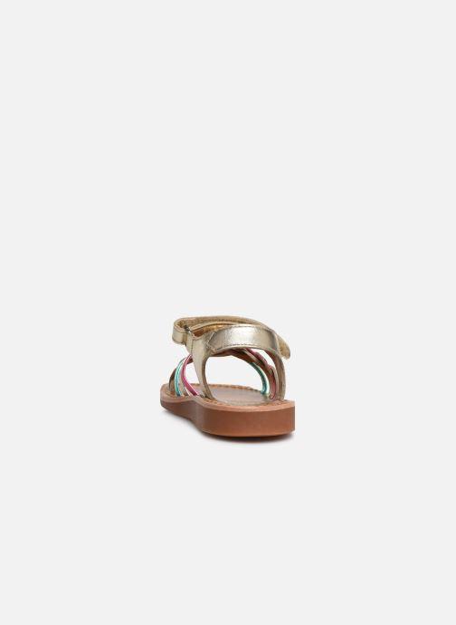 Sandales et nu-pieds Pom d Api YAPO TRESSE Multicolore vue droite
