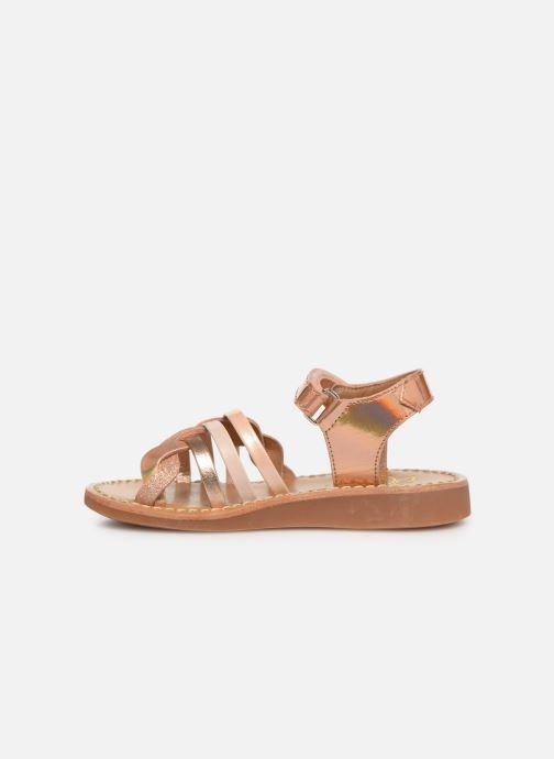 Sandales et nu-pieds Pom d Api YAPO TRESSE Rose vue face