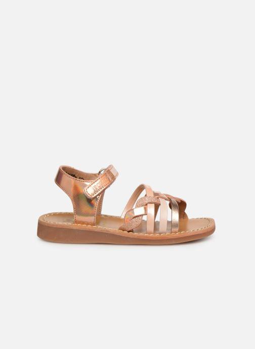 Sandales et nu-pieds Pom d Api YAPO TRESSE Rose vue derrière