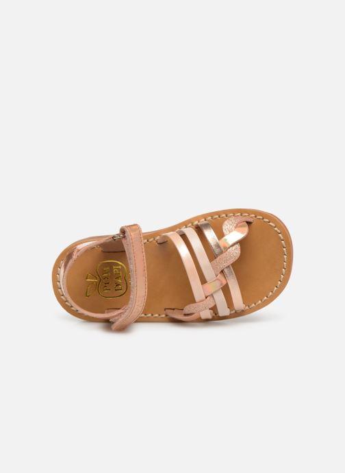 Sandales et nu-pieds Pom d Api YAPO TRESSE Rose vue gauche