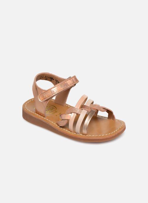 Sandales et nu-pieds Pom d Api YAPO TRESSE Rose vue détail/paire