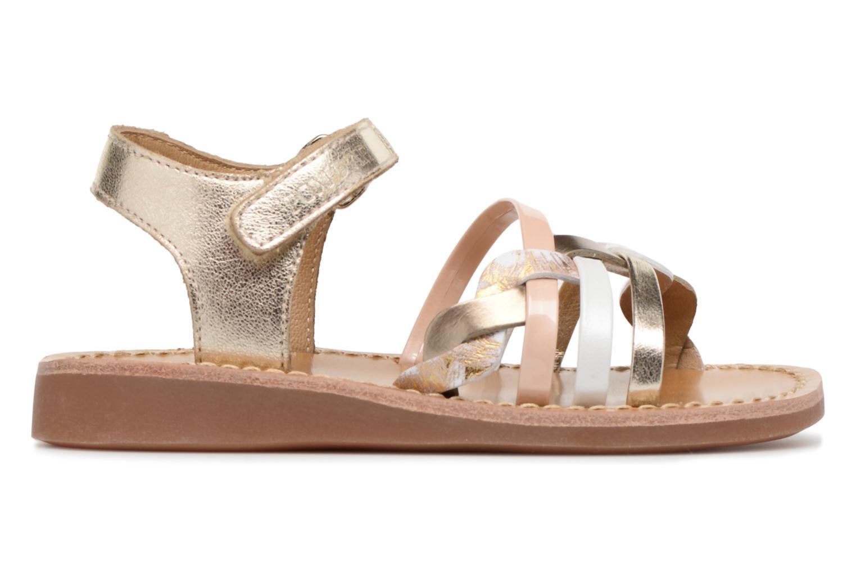 Sandals Pom d Api YAPO TRESSE Multicolor back view