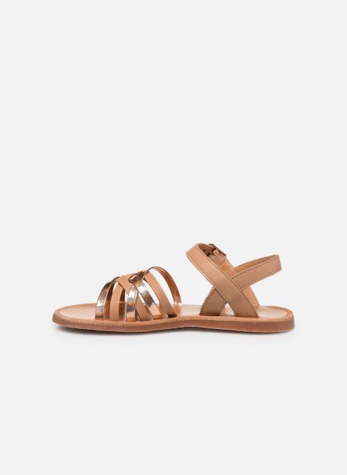 Sandales et nu-pieds Pom d Api PLAGETTE LUX Or et bronze vue face