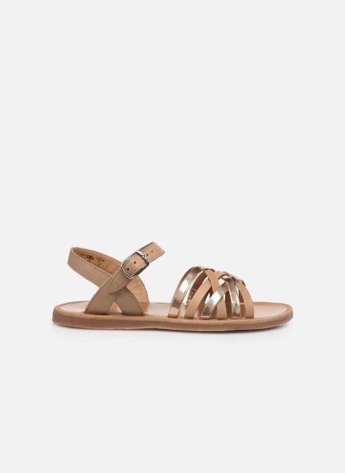 Sandales et nu-pieds Pom d Api PLAGETTE LUX Or et bronze vue derrière