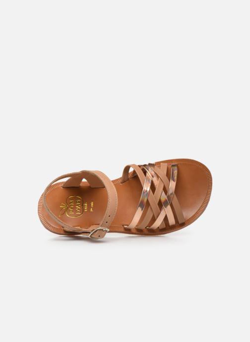 Sandales et nu-pieds Pom d Api PLAGETTE LUX Or et bronze vue gauche