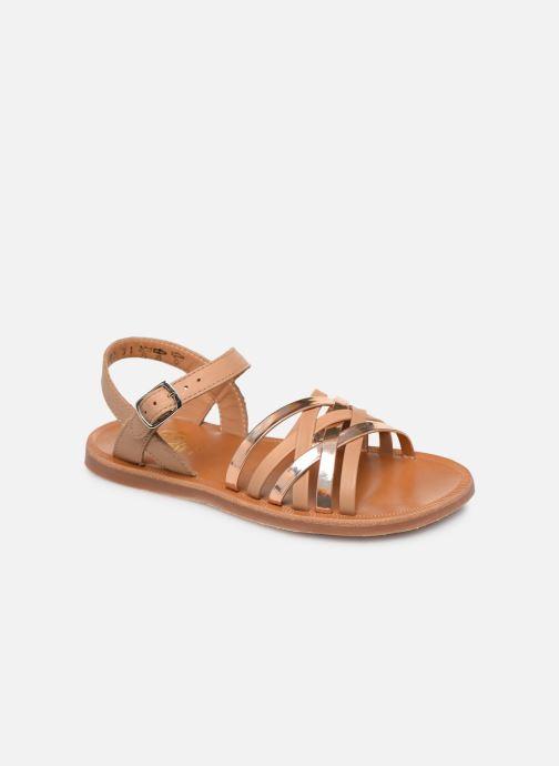 Sandales et nu-pieds Pom d Api PLAGETTE LUX Or et bronze vue détail/paire