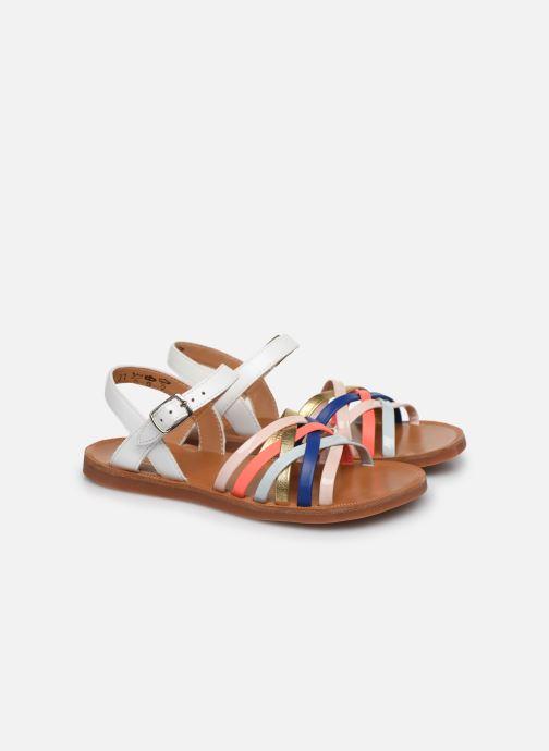 Sandales et nu-pieds Pom d Api PLAGETTE LUX Multicolore vue 3/4