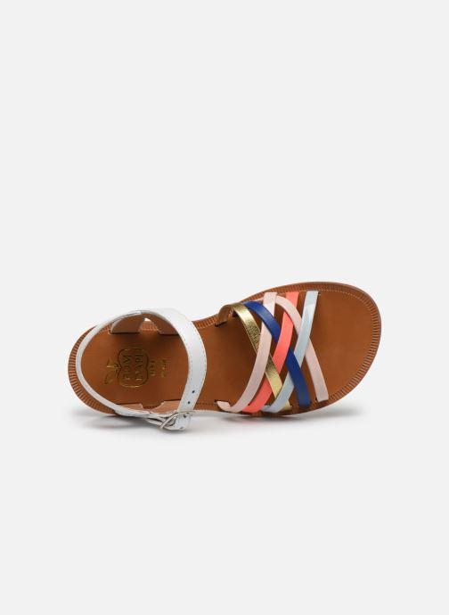 Sandales et nu-pieds Pom d Api PLAGETTE LUX Multicolore vue gauche