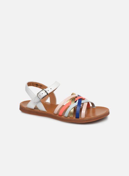 Sandales et nu-pieds Pom d Api PLAGETTE LUX Multicolore vue détail/paire