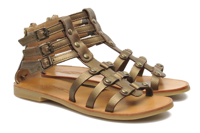 Sandales et nu-pieds Shwik LAZAR STRAP ATLANTA Or et bronze vue 3/4