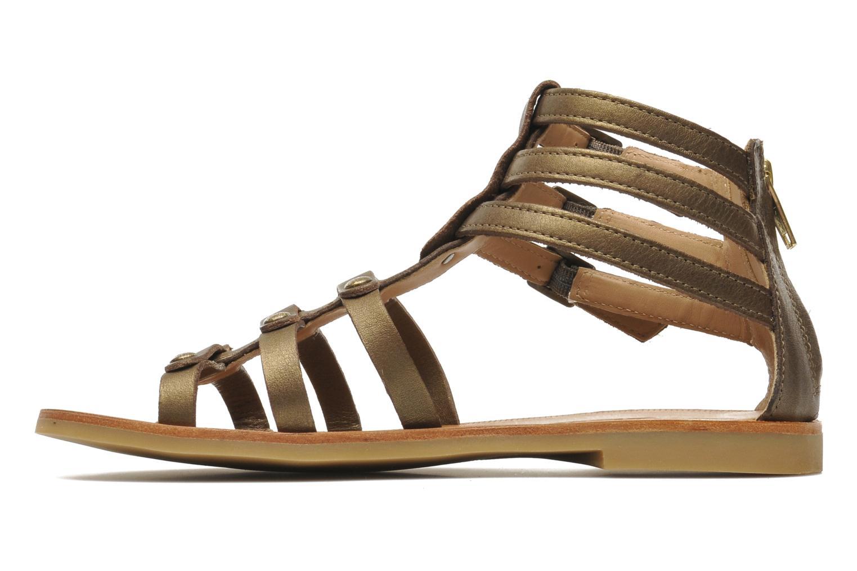 Sandales et nu-pieds Shwik LAZAR STRAP ATLANTA Or et bronze vue face