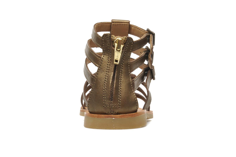 Sandales et nu-pieds Shwik LAZAR STRAP ATLANTA Or et bronze vue droite