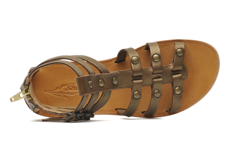 Sandales et nu-pieds Shwik LAZAR STRAP ATLANTA Or et bronze vue gauche