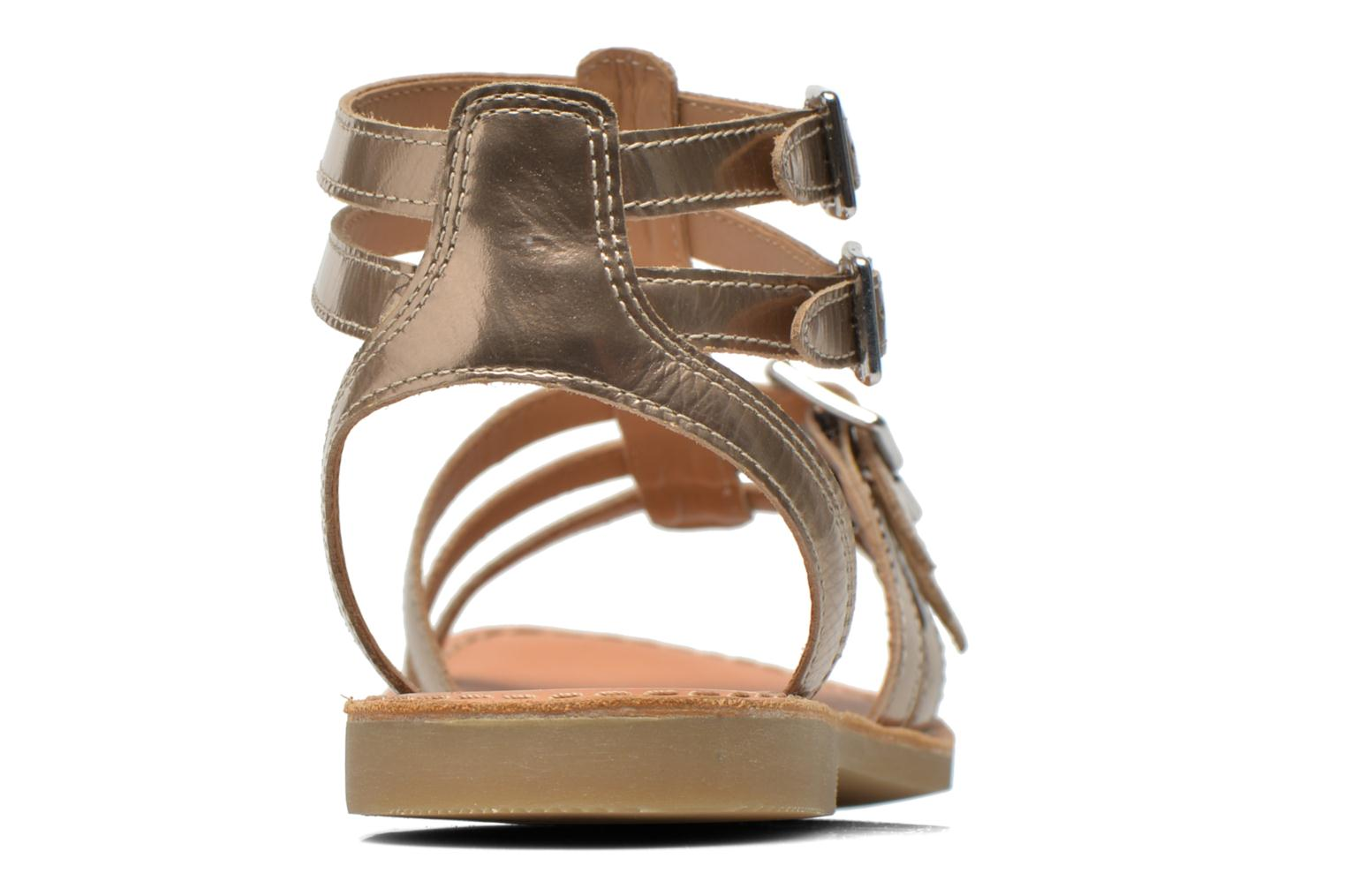 Sandals Shwik LAZAR BUCKLES Bronze and Gold view from the right