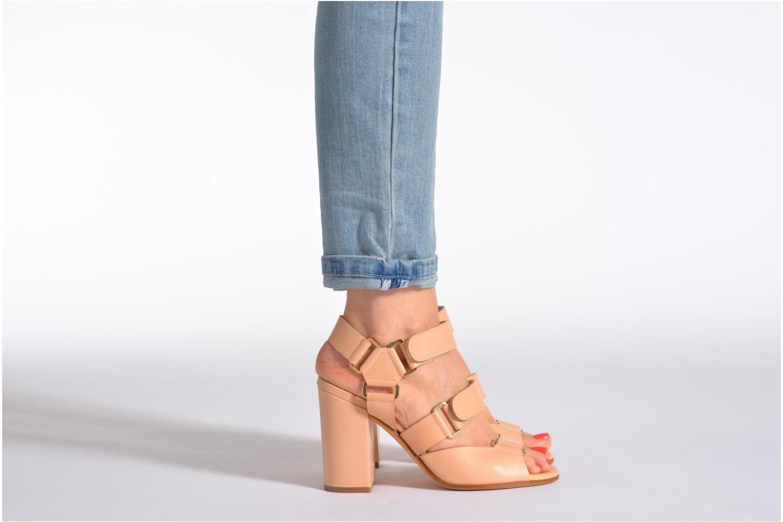 Sandales et nu-pieds Rebecca Balducci Sparta Blanc vue bas / vue portée sac