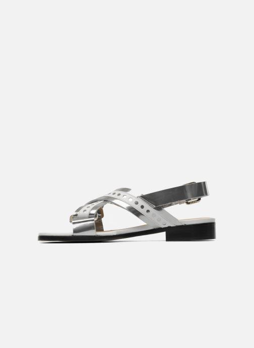 Sandales et nu-pieds Rebecca Balducci Garda Argent vue face