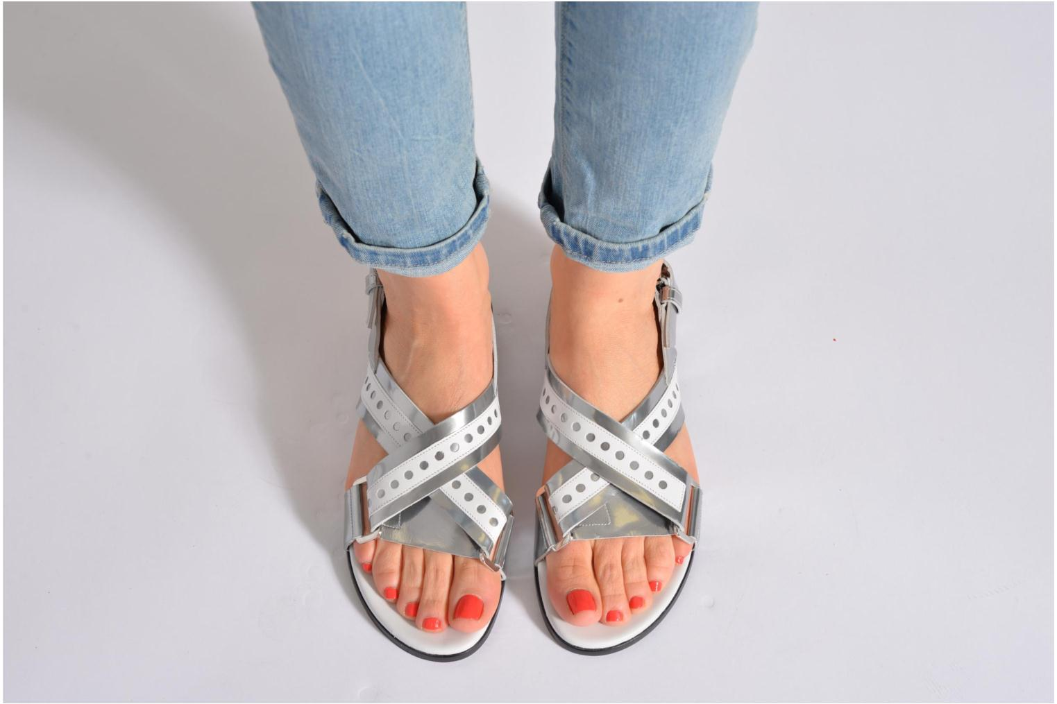 Sandals Rebecca Balducci Garda Silver view from underneath / model view